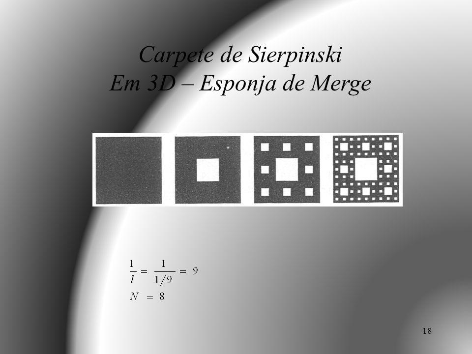 Carpete de Sierpinski Em 3D – Esponja de Merge