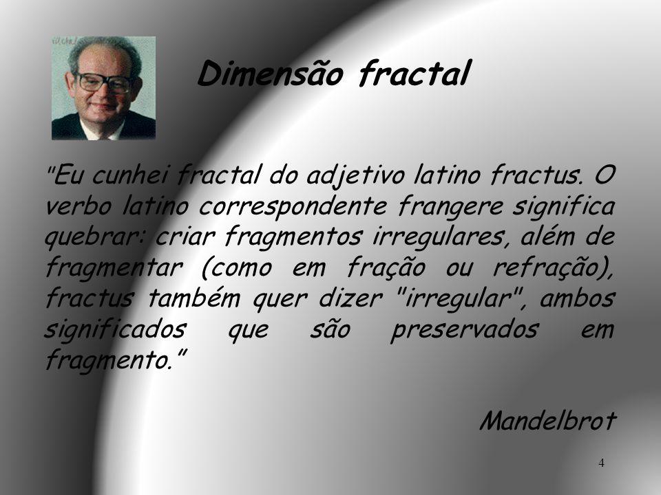 Dimensão fractal Mandelbrot
