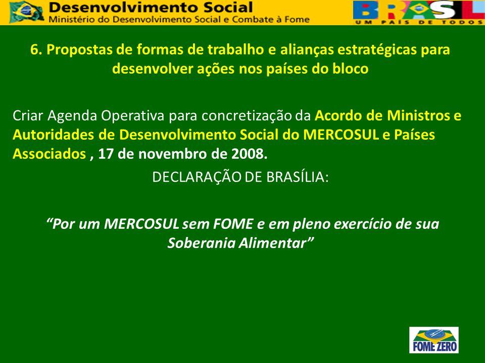 DECLARAÇÃO DE BRASÍLIA: