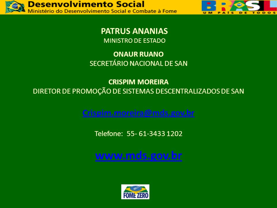 PATRUS ANANIAS MINISTRO DE ESTADO