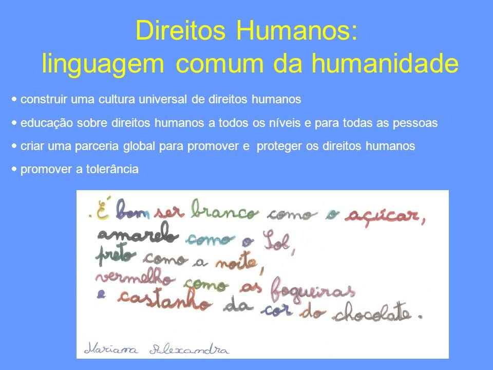 Direitos Humanos: linguagem comum da humanidade