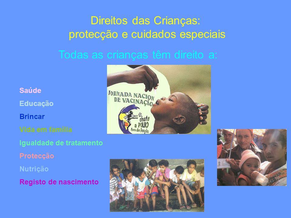 Direitos das Crianças: protecção e cuidados especiais