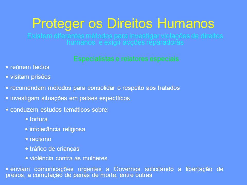 Proteger os Direitos Humanos