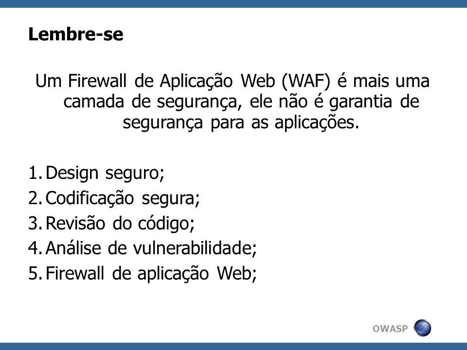 Análise de vulnerabilidade; Firewall de aplicação Web;