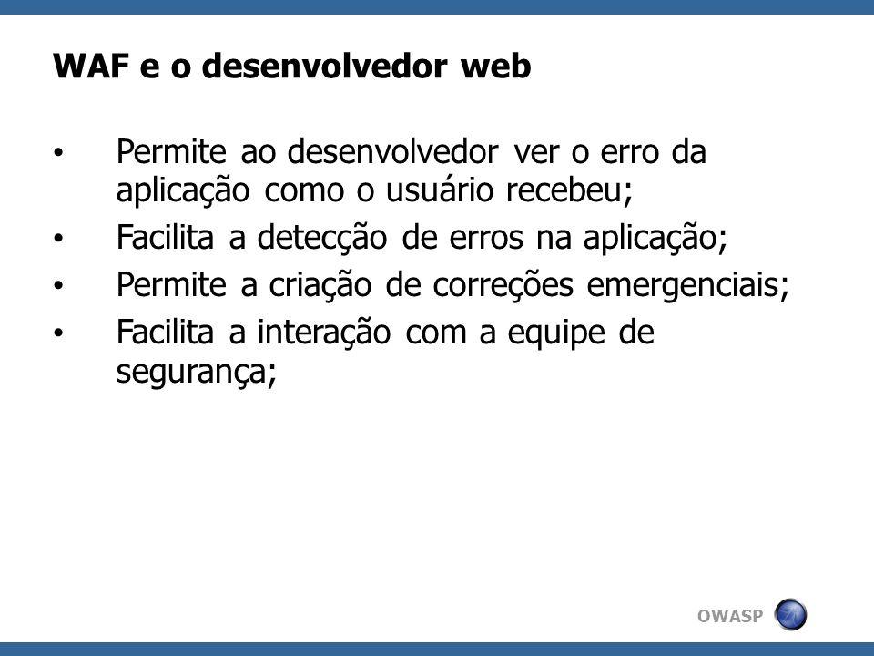 WAF e o desenvolvedor web
