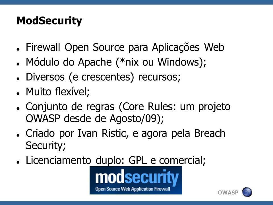 Firewall Open Source para Aplicações Web