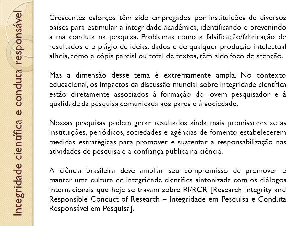 Integridade científica e conduta responsável