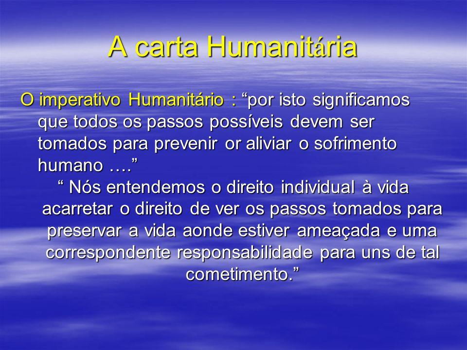 A carta Humanitária