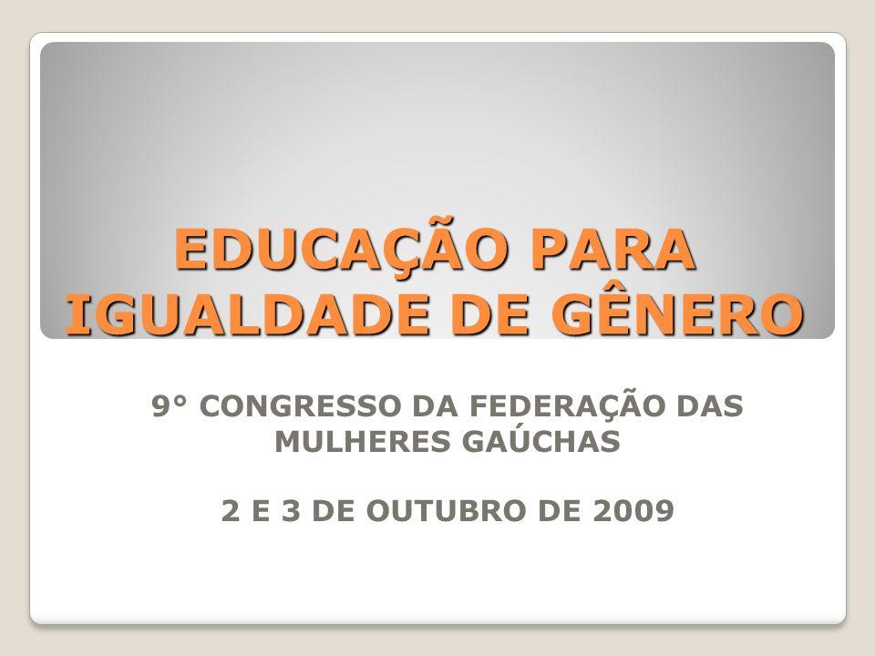 EDUCAÇÃO PARA IGUALDADE DE GÊNERO