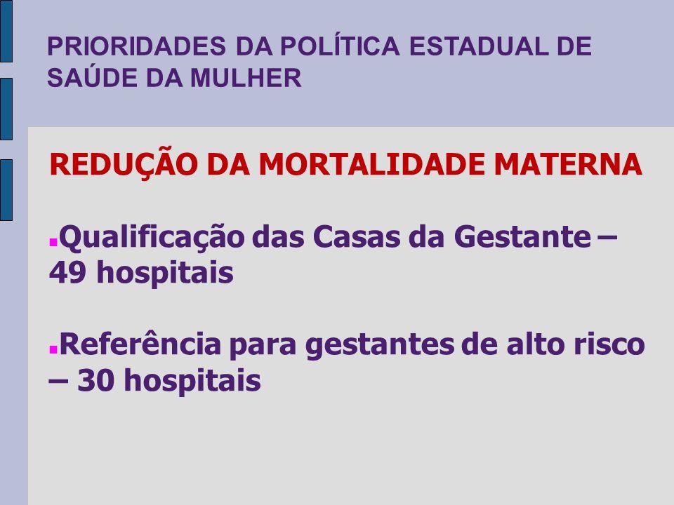 REDUÇÃO DA MORTALIDADE MATERNA