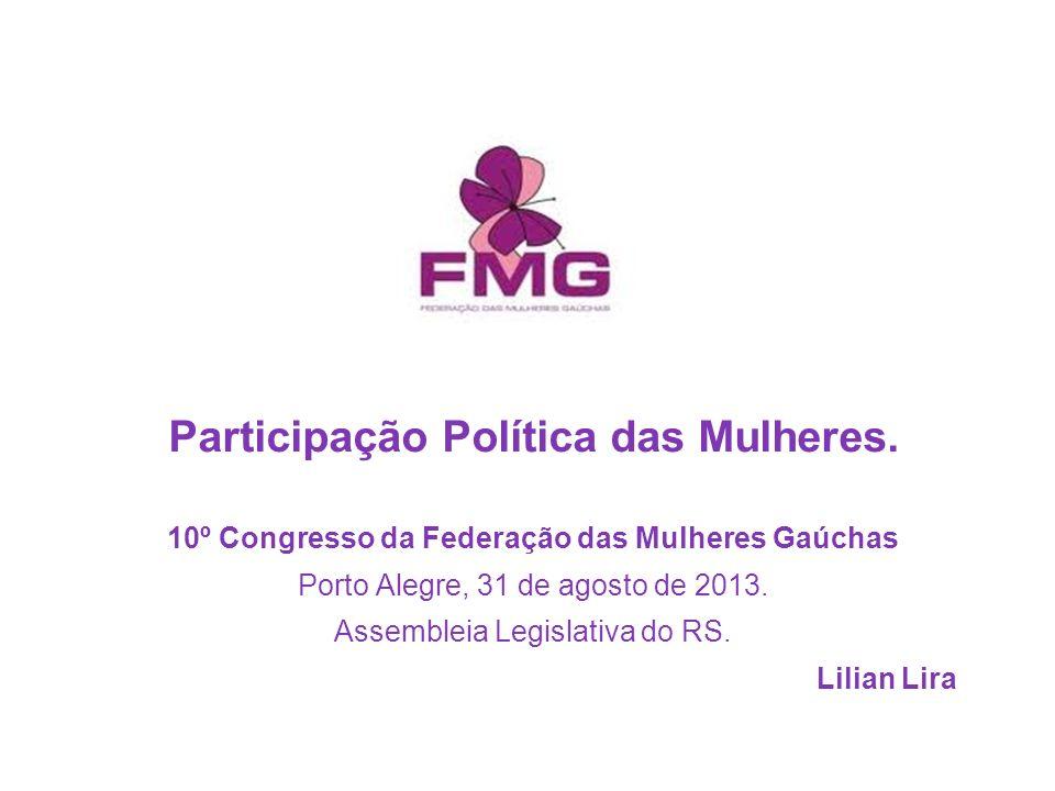 Participação Política das Mulheres.