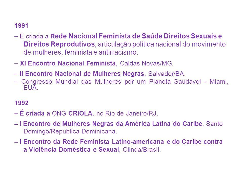 – XI Encontro Nacional Feminista, Caldas Novas/MG.