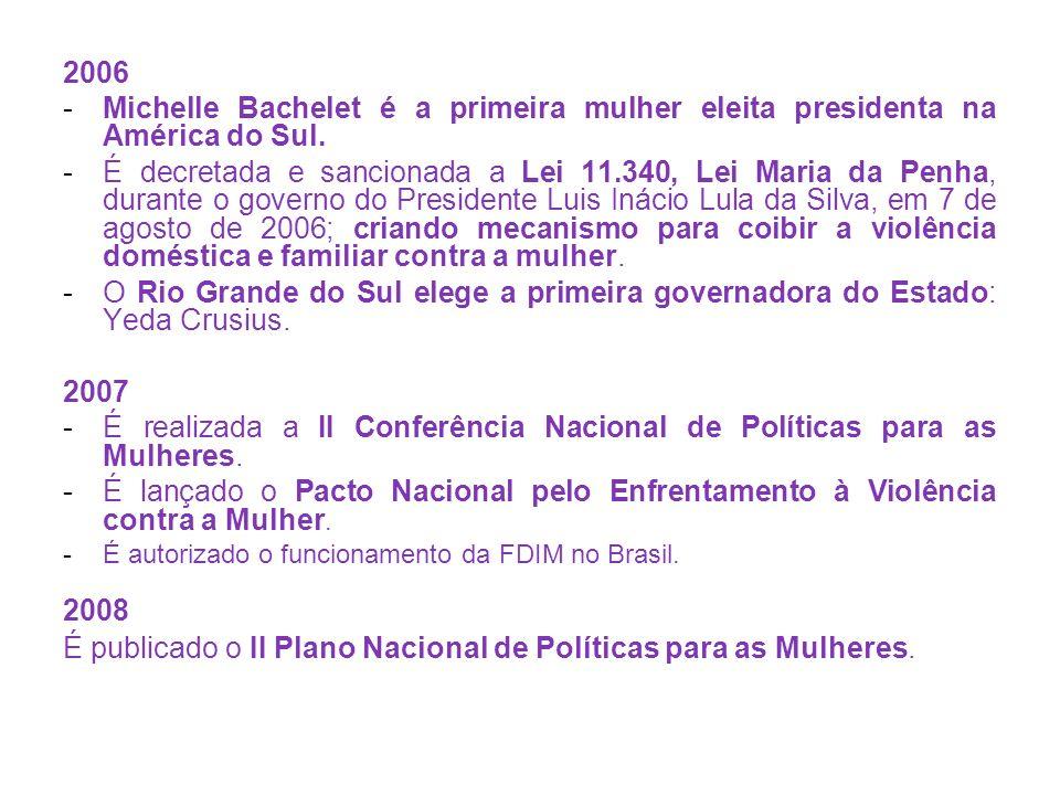 É realizada a II Conferência Nacional de Políticas para as Mulheres.