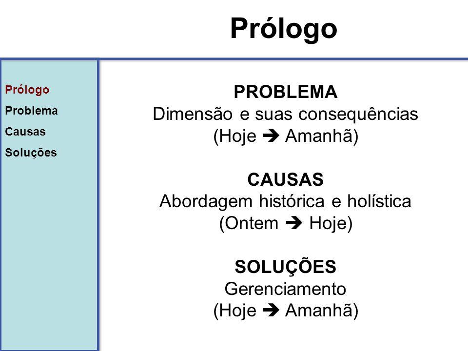Prólogo PROBLEMA Dimensão e suas consequências (Hoje  Amanhã) CAUSAS