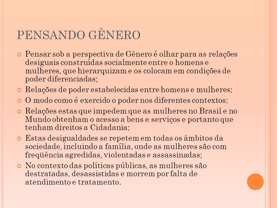 PENSANDO GÊNERO