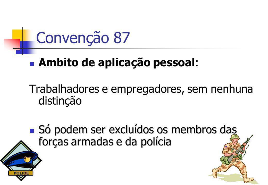 Convenção 87 Ambito de aplicação pessoal: