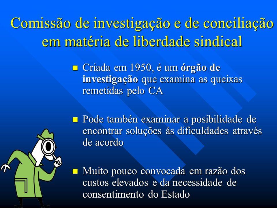Comissão de investigação e de conciliação em matéria de liberdade sindical