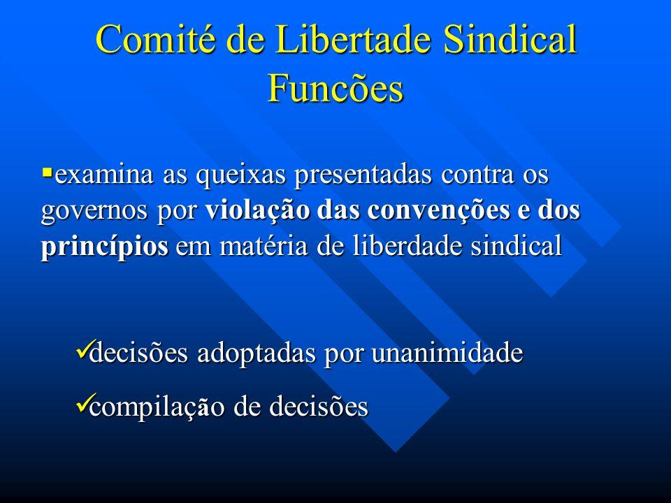 Comité de Libertade Sindical Funcões