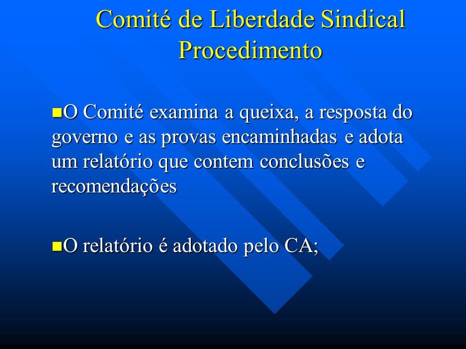 Comité de Liberdade Sindical Procedimento