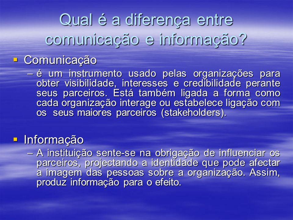 Qual é a diferença entre comunicação e informação