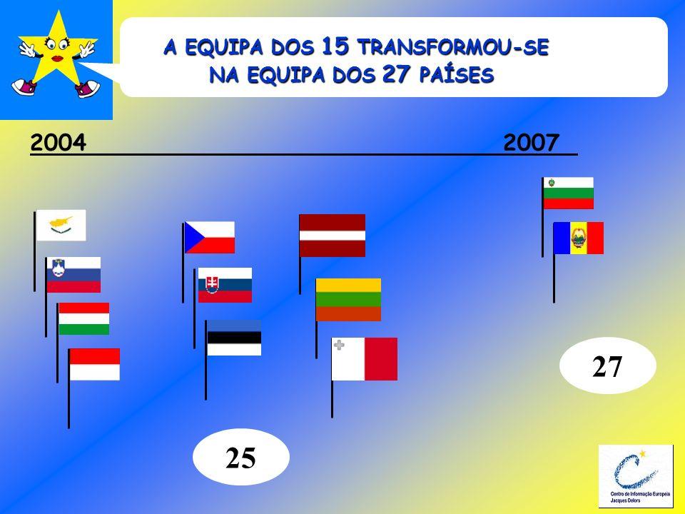 A EQUIPA DOS 15 TRANSFORMOU-SE