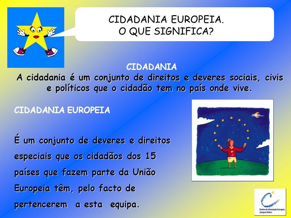 CIDADANIA EUROPEIA. O QUE SIGNIFICA
