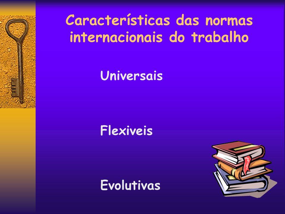 Características das normas internacionais do trabalho