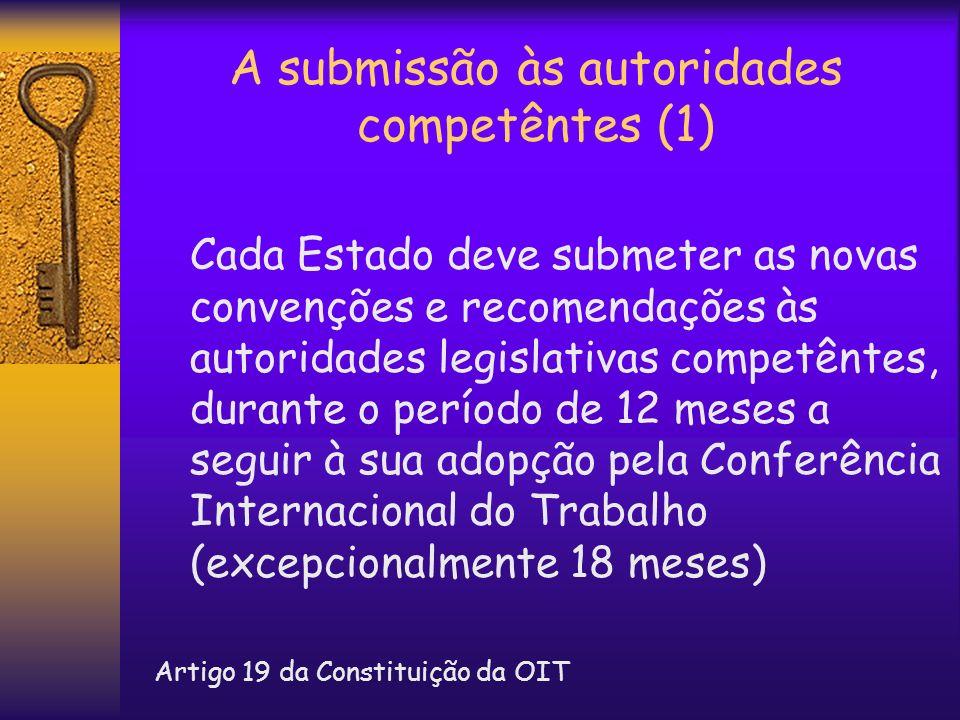 A submissão às autoridades competêntes (1)