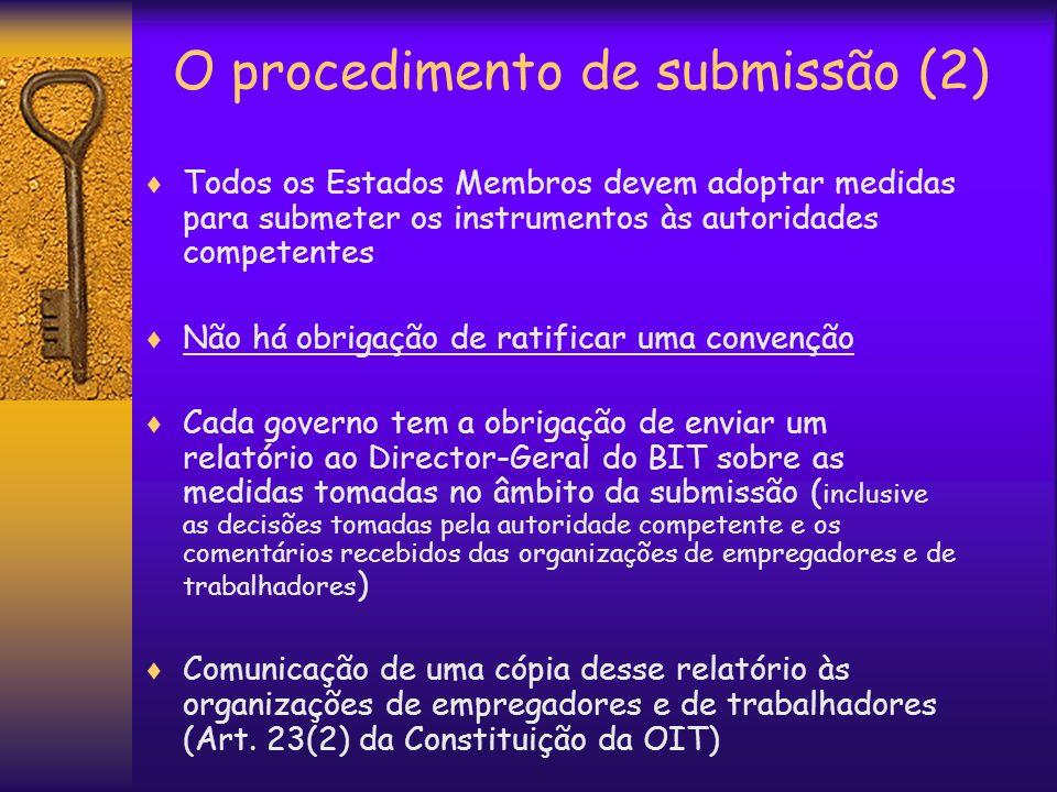 O procedimento de submissão (2)