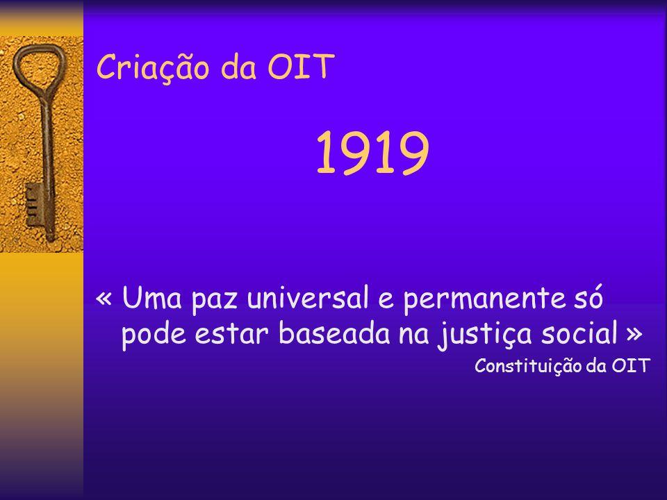 Criação da OIT 1919.