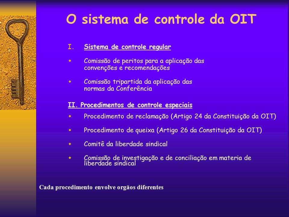 O sistema de controle da OIT