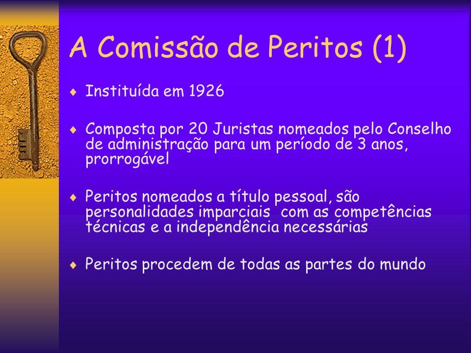 A Comissão de Peritos (1)