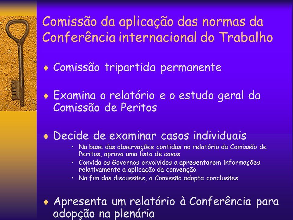 Comissão da aplicação das normas da Conferência internacional do Trabalho