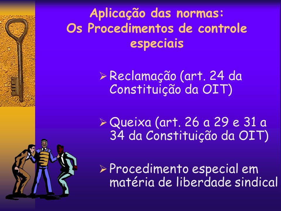 Aplicação das normas: Os Procedimentos de controle especiais