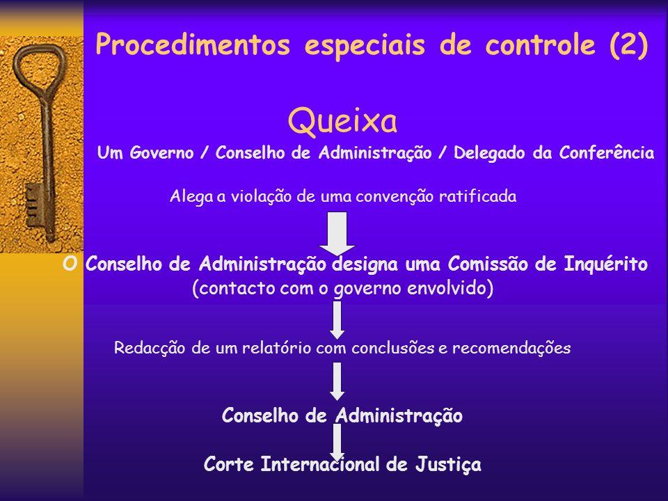 Procedimentos especiais de controle (2)