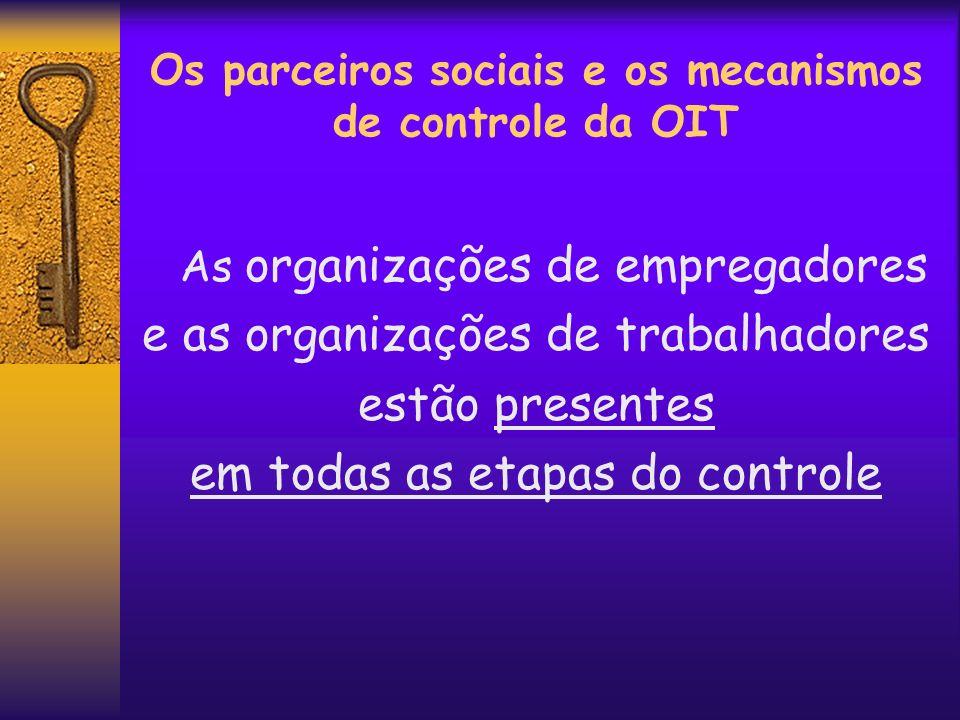 Os parceiros sociais e os mecanismos de controle da OIT
