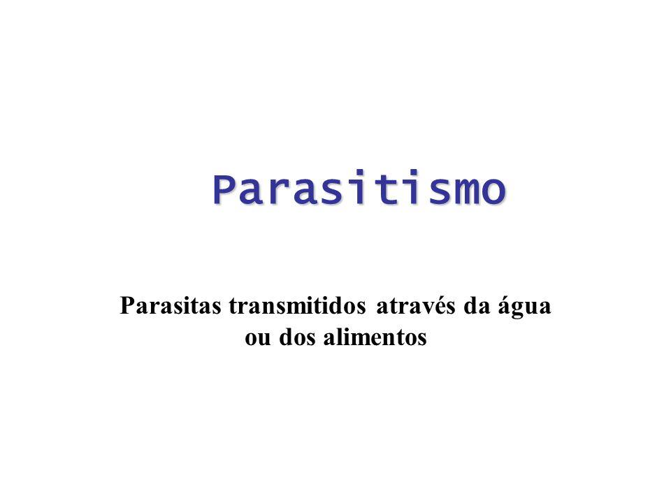 Parasitas transmitidos através da água ou dos alimentos