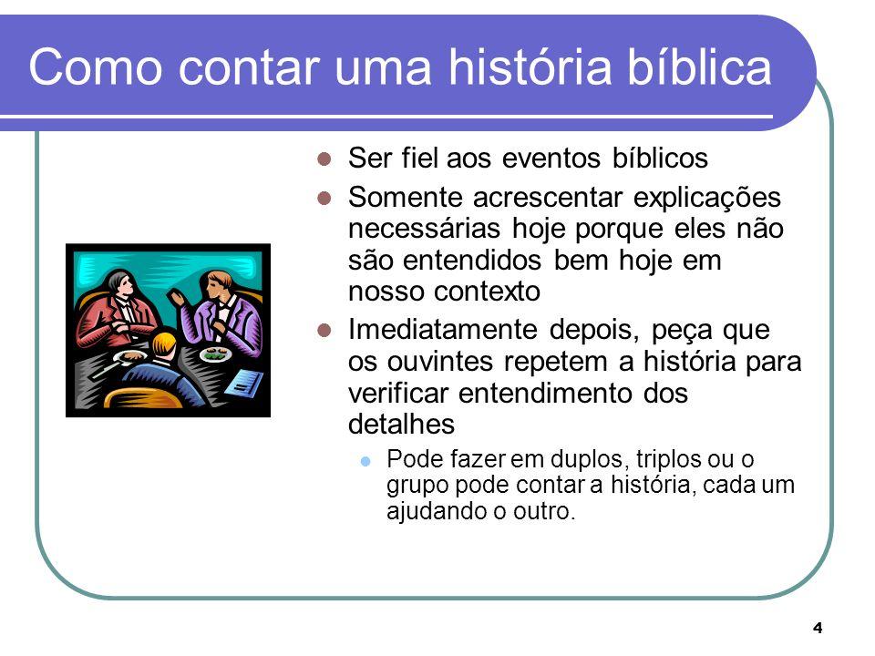 Como contar uma história bíblica