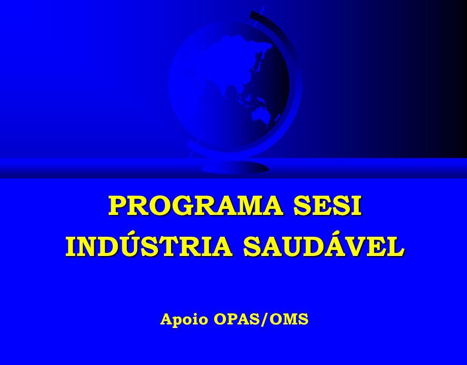 PROGRAMA SESI INDÚSTRIA SAUDÁVEL Apoio OPAS/OMS