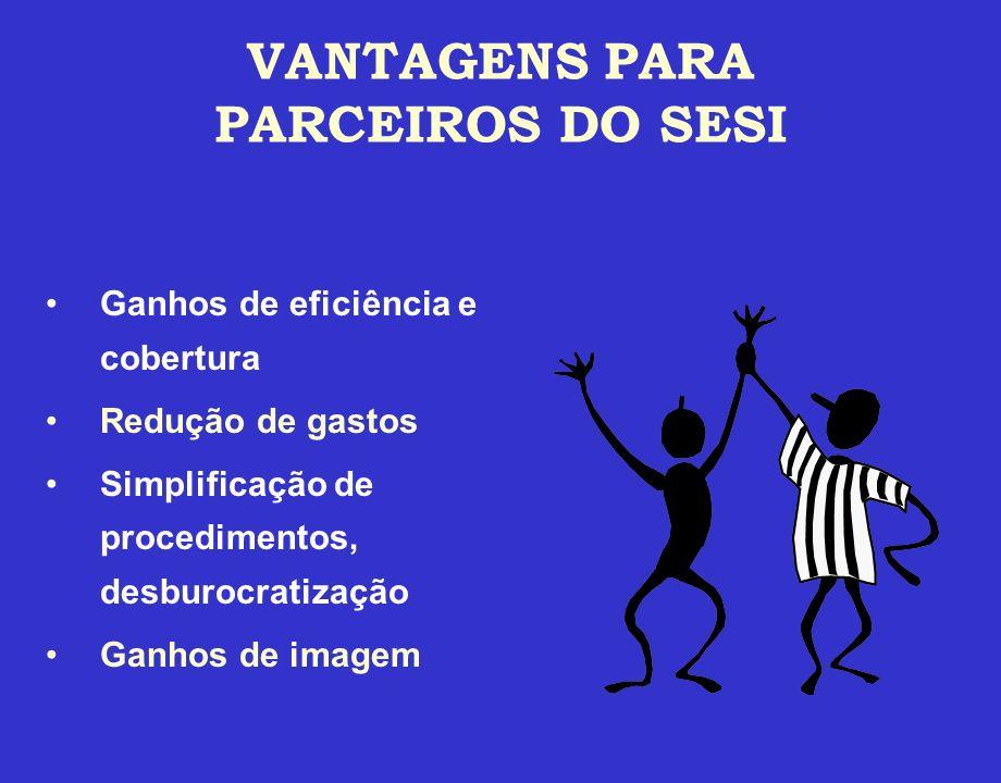 VANTAGENS PARA PARCEIROS DO SESI