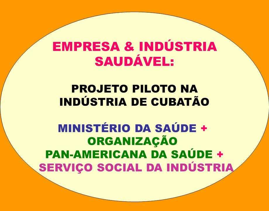 PAN-AMERICANA DA SAÚDE + SERVIÇO SOCIAL DA INDÚSTRIA