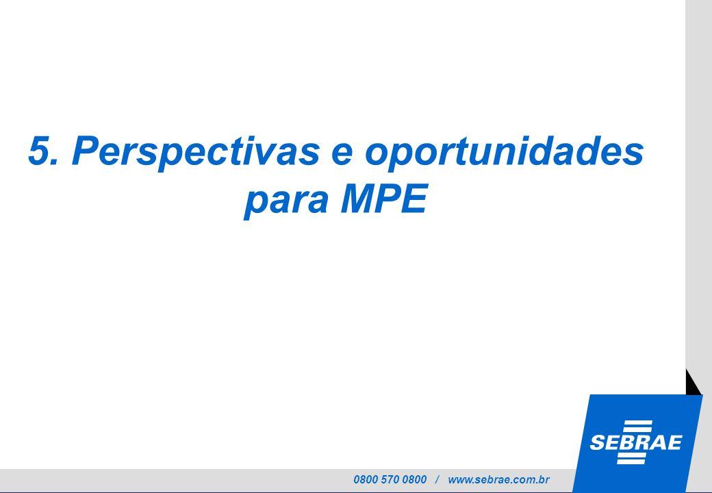 5. Perspectivas e oportunidades para MPE