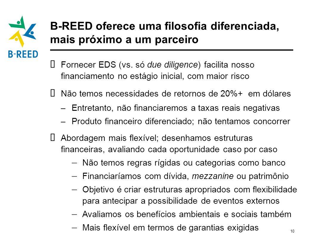 B-REED oferece uma filosofia diferenciada, mais próximo a um parceiro