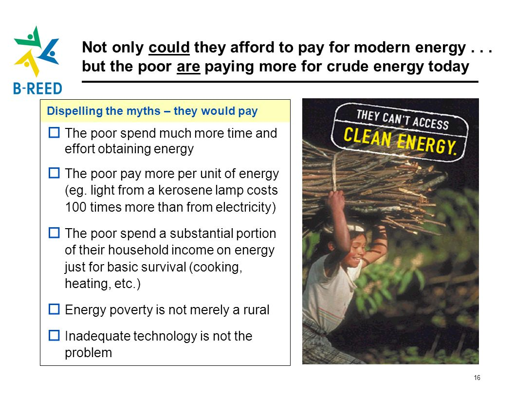 Not only could they afford to pay for modern energy