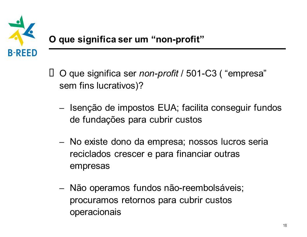 O que significa ser um non-profit