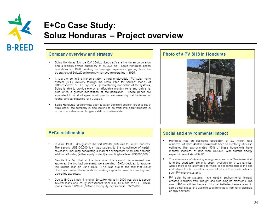 E+Co Case Study: Soluz Honduras – Project overview