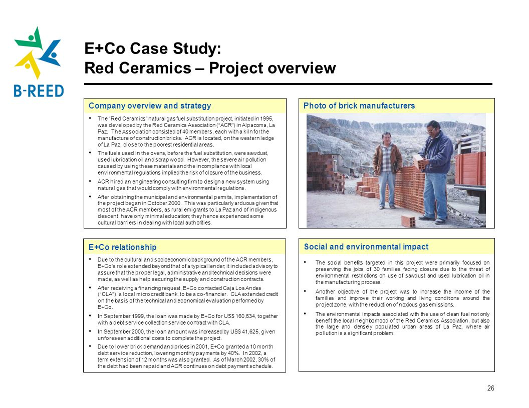 E+Co Case Study: Red Ceramics – Project overview