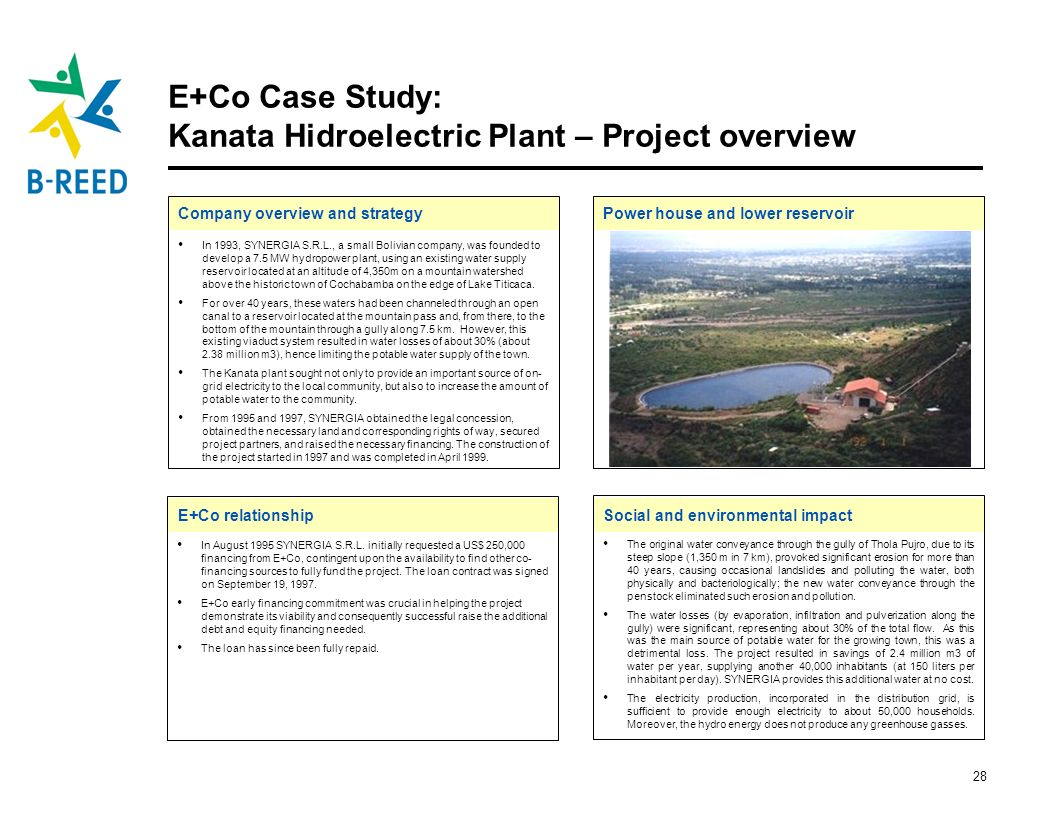 E+Co Case Study: Kanata Hidroelectric Plant – Project overview