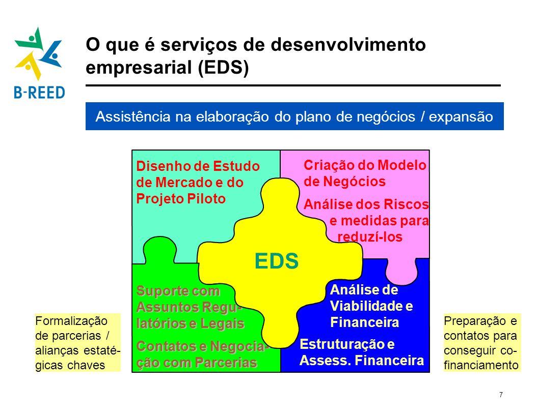 O que é serviços de desenvolvimento empresarial (EDS)
