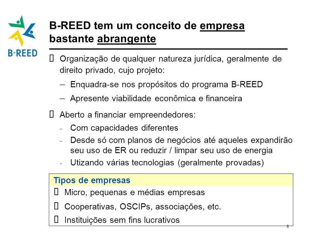 B-REED tem um conceito de empresa bastante abrangente